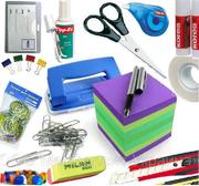 канцтовары,  хозтовары,  бытовую химию,  упаковочные материалы