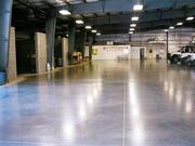 Укладка промышленных бетонных полов с упрочненным верхним слоем