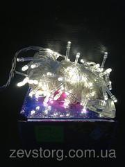 Гирлянда новогодняя светодиодная 100Led белая
