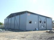 Будівництво овочесховища . Монтаж металоконструкцій