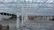 Будівництво складського приміщення 2500м.кв. Монтаж металоконструкцій.